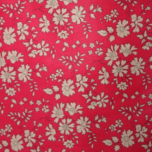 Liberty Capel rouge F 3055f Tissu liberty fabrics tana lawn coton batiste fine