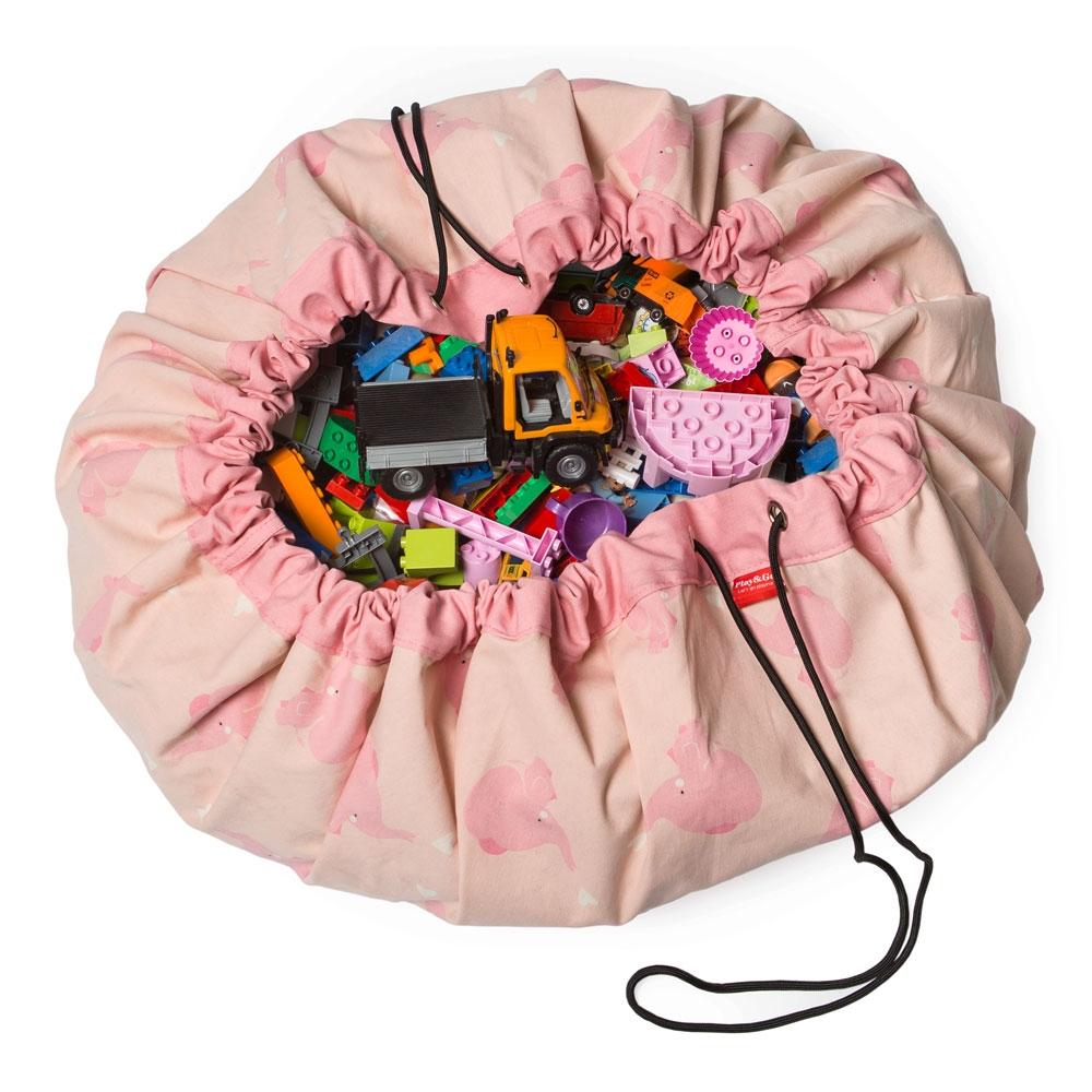 Sac rangement de jouets tendance sac de jeu tapis lego playmobil brio