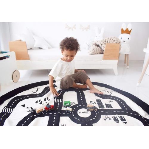 Sac rangement de jouets tapis de jeu playmobil lego