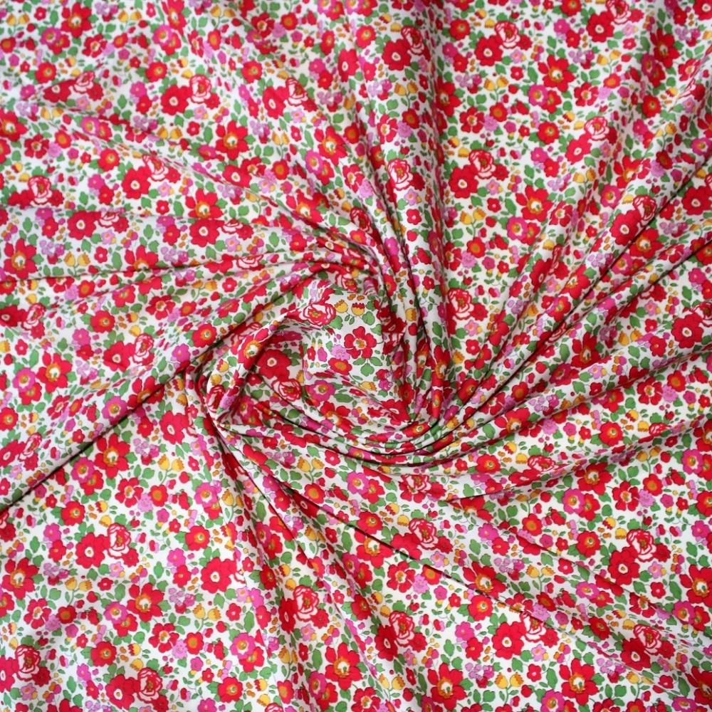Liberty Betsy S grenadineTissu liberty fabrics tana lawn coton batiste fine joli