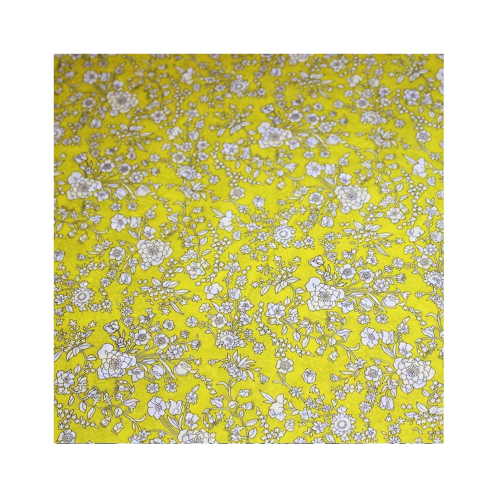 Tissus liberty fabrics au metre à la coupe Liberty Blooms lime / jaune acide A