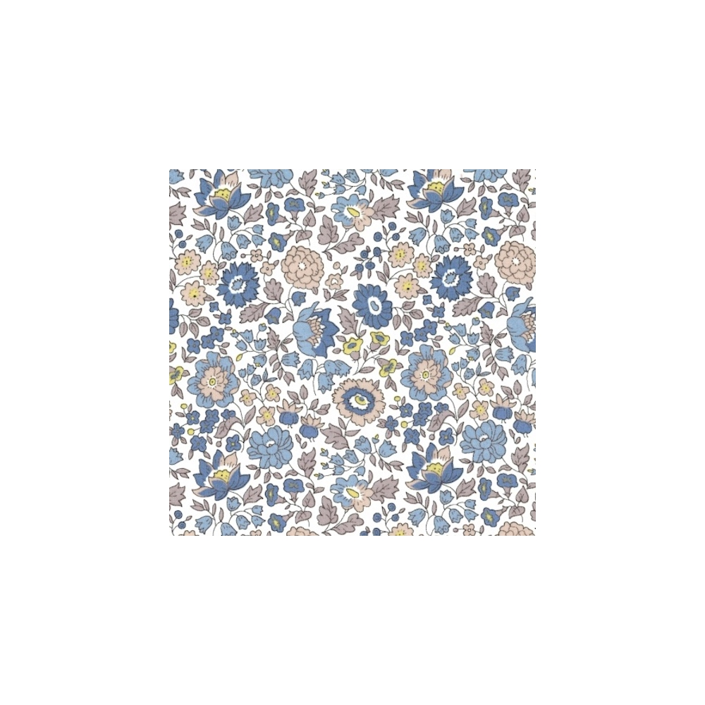 Liberty Danjo bleu beige coloris E Tissu liberty pas cher à la coupe au metre