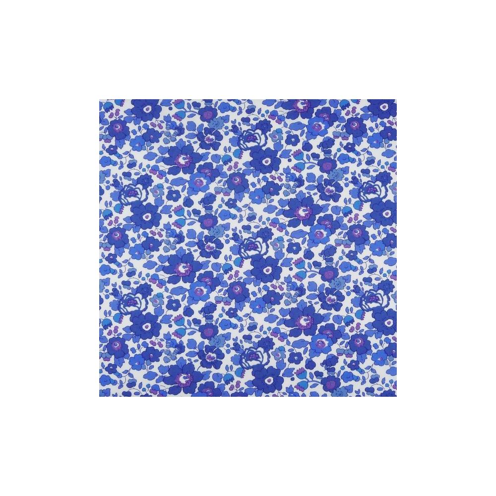Betsy bleu marin Liberty Betsy T Liberty Londre Tissus liberty fabrics au metre à la coupe