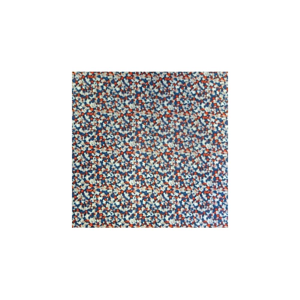 Tissu liberty fabrics tana lawn coton batiste fine Liberty Pepper bleu / orange