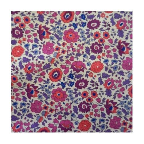 Liberty Danjo prune corailTissu liberty fabrics tana lawn coton batiste fine orange violet