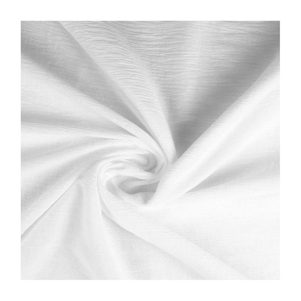 Gaze coton blanche coton tisse couture coussette ete jupe fille garcon a la coupe au metre pas cher