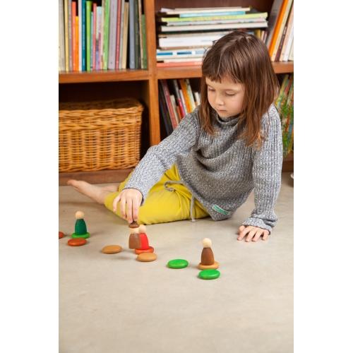 Maisons & Nins® Waldorf Montessori jouet jeux libre en bois naturelle peinture eau cire huile ecolo