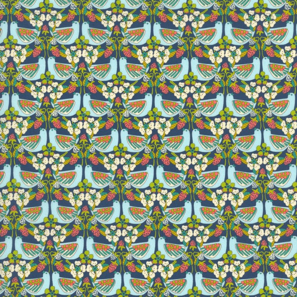Liberty strawberry feast Tissus liberty fabrics au metre à la coupe