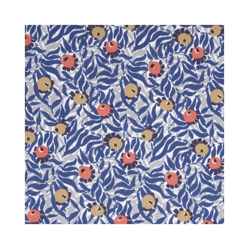 Liberty Huckleberry bleu, gris, jaune, orange