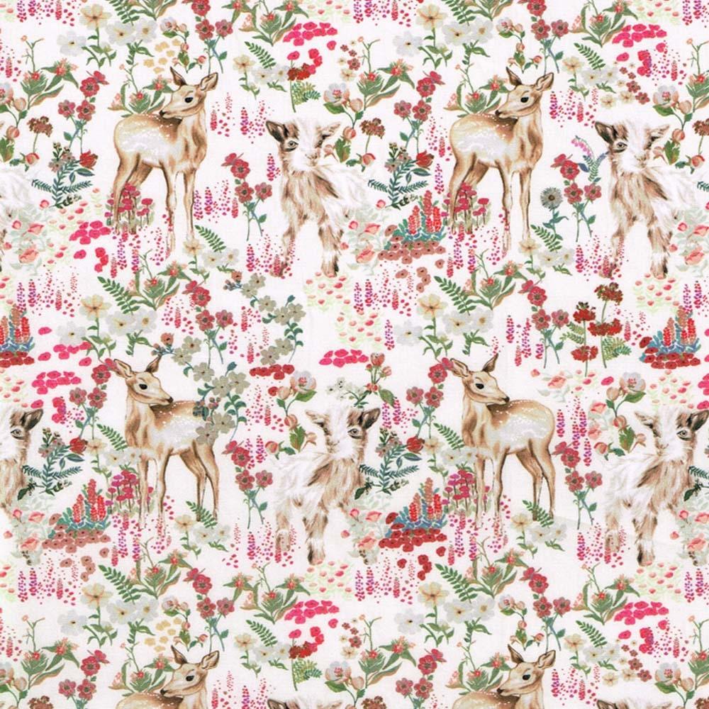 TIssus Liberty Billy 8141B coloris B tissu kawai biche rose enfant