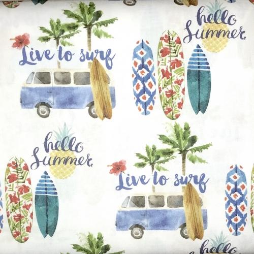 Tissu coton imprimé vacances