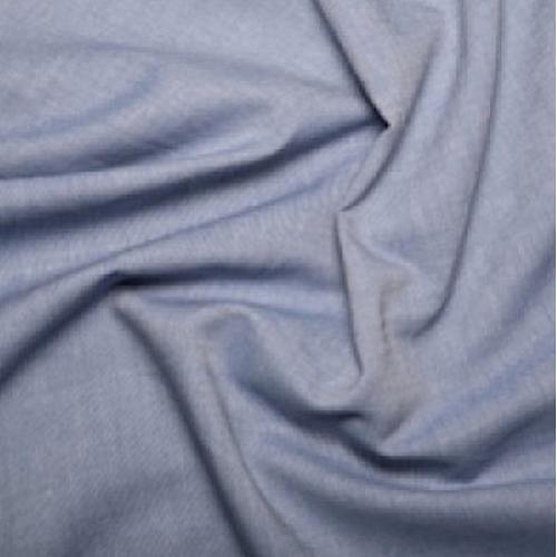 Chambray 100% coton bleu