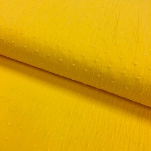 Plumetis de coton coloris jaune soleil