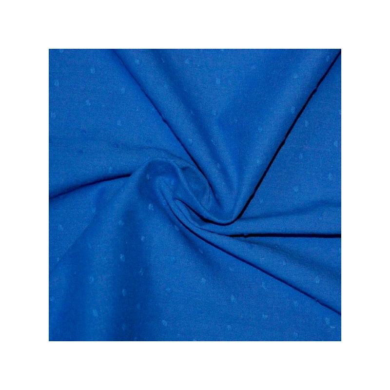 Plumetis de coton coloris bleu royal