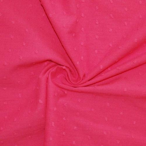 Plumetis de coton coloris fuschia