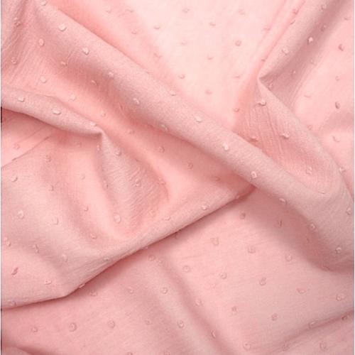 Plumetis de coton coloris rose nude