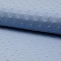 Plumetis de coton coloris bleu gris (bleu vénitien)