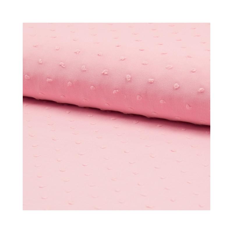 Plumetis de coton coloris dragée