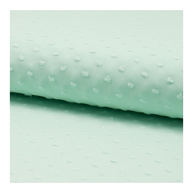 Plumetis de coton coloris mint clair