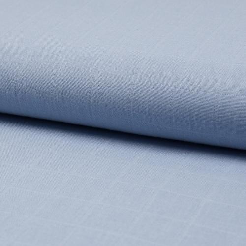 Lange de coton coloris bleu vénitien (bleu/gris)
