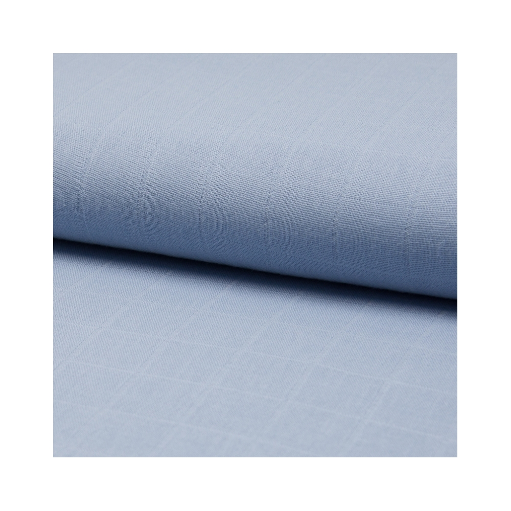 Lange de coton coloris bleu vénitien