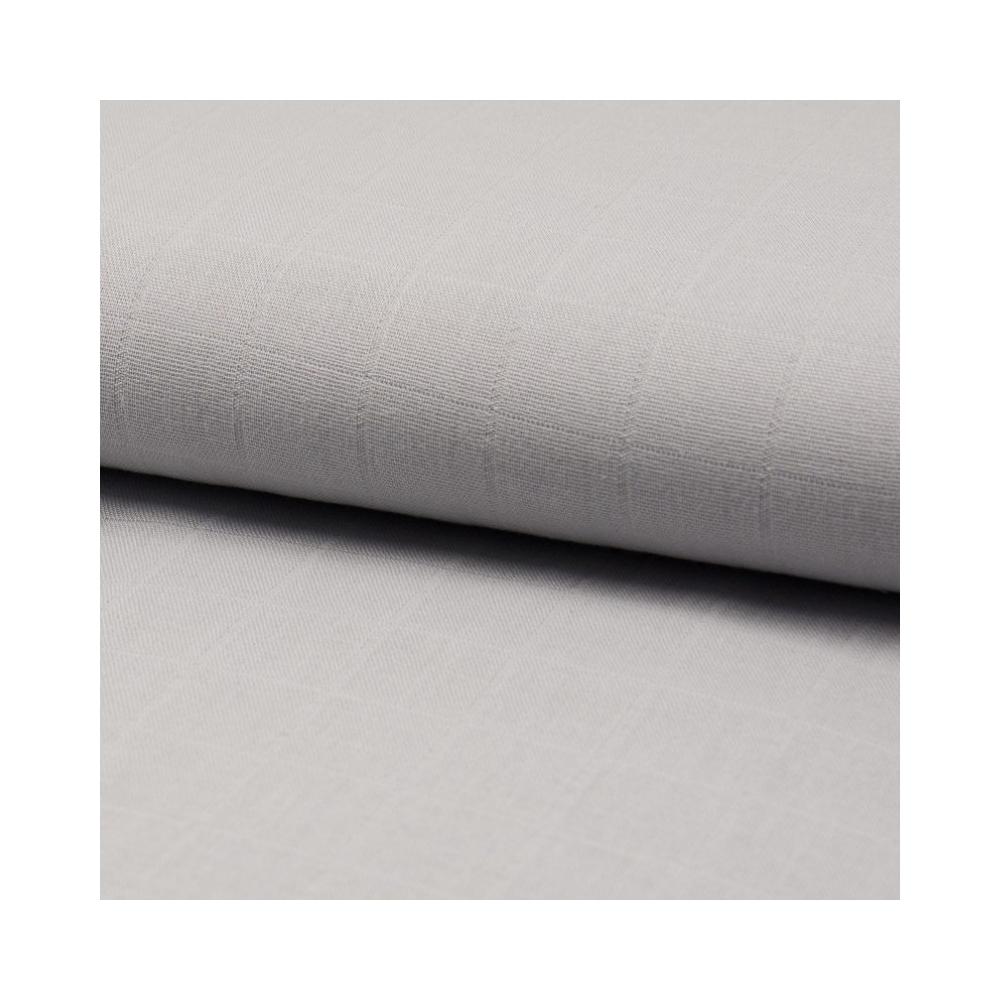 Lange de coton coloris gris clair