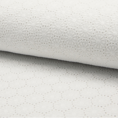 Broderie anglaise 100% coton BLANC