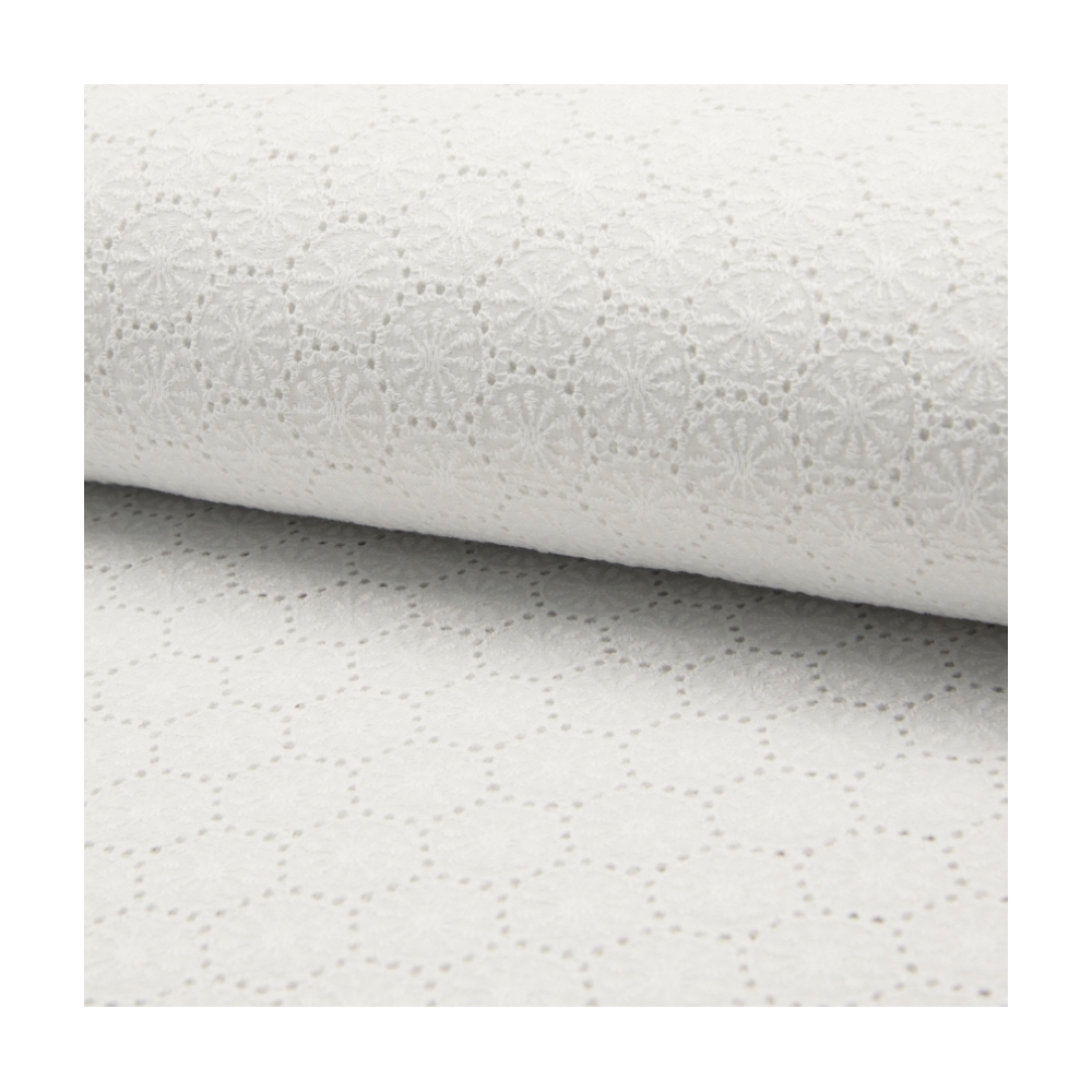 broderie anglaise BLANC blanche