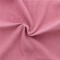 Double gaze de coton bois de rose