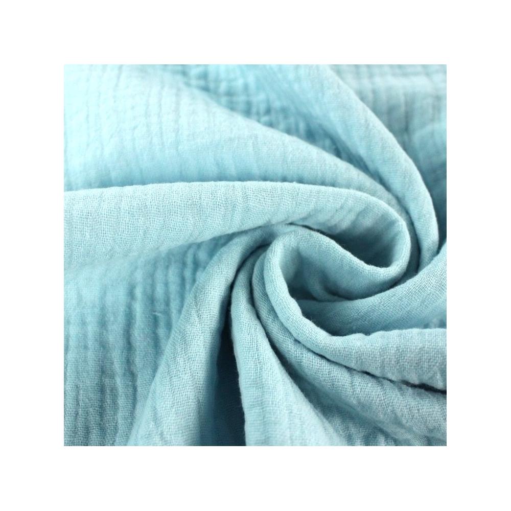 Double gaze de coton bleu lagon