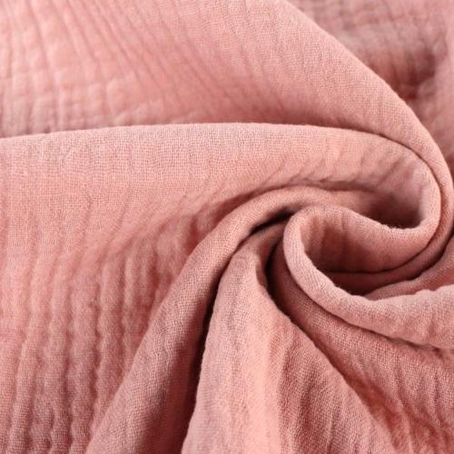 Double gaze de coton pêche rosée