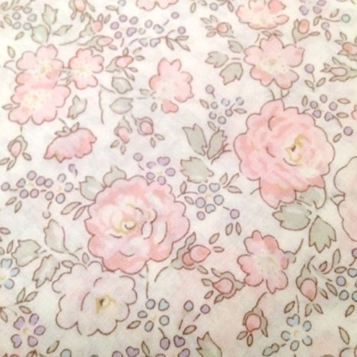 Coupon 50 cm Liberty Felicite Japonais rose dragée