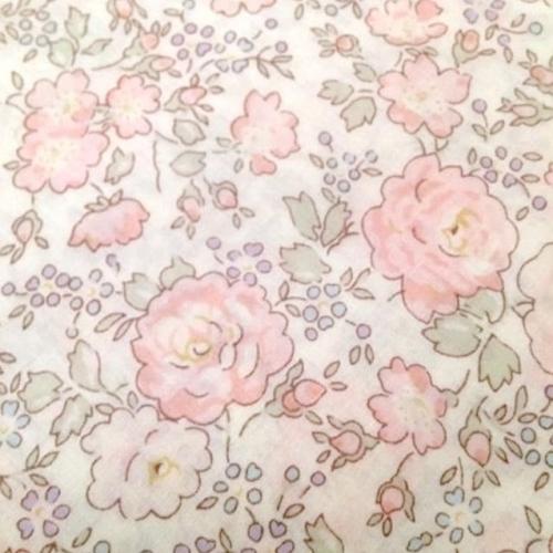 Coupon 50 cm Liberty Felicite Japonais rose dragée