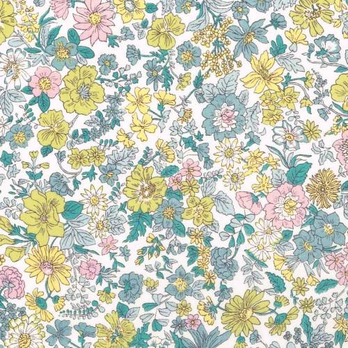Tissu liberty pas cher à la coupe au metre Liberty Emily coloris Vintage