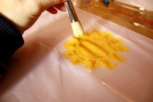 peindre des jupe vetement totalement personnalisé par des enfants