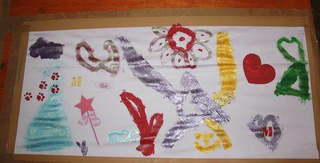 Jupes d'artistes fait mains par des enfants oeuvre fini