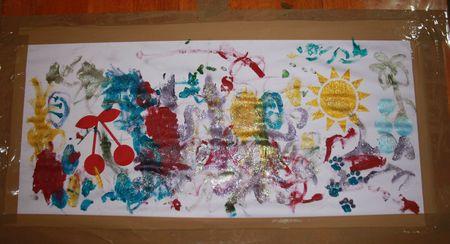 Et une autre toile fini par des enfants pour une jupe personnalisee