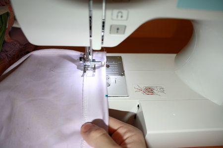 faire couture jupe enfant peinture fait main elastique